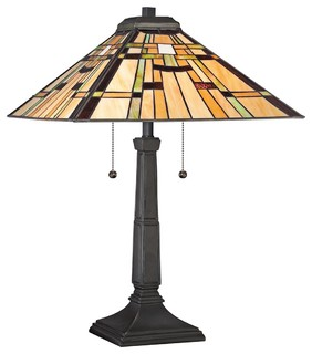 tiffany quoizel mill run tiffany style table lamp. Black Bedroom Furniture Sets. Home Design Ideas