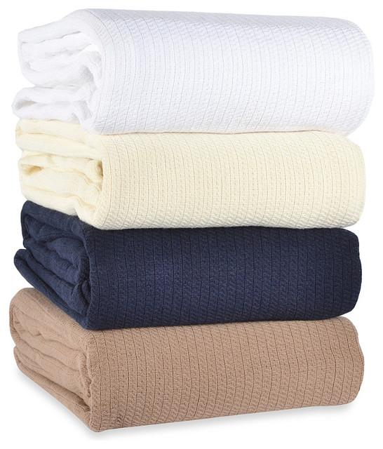 Berkshire Blanket Comfy Soft Cotton Blanket Traditional