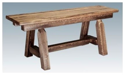 45 in. Plank Style Bench rustic-benches
