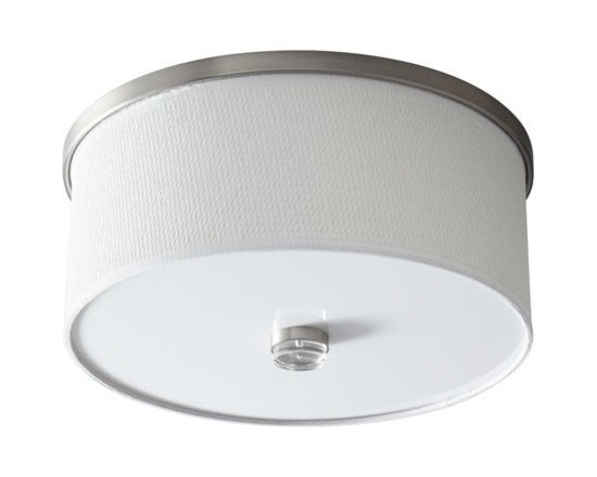 Oxygen Lighting - Oxygen Lighting | Echo LED Ceiling Light - Design by Oxygen Lighting. The Echo LED Ceiling Light marries a classic silhouette with energy-efficient LED technology to create a modern flush mount ceiling light that will seamlessly integrate into a variety of home decors. Comprised of a grass shade made with natural bamboo fibers accentuated by finished steel accents and an acrylic diffuser, this modern lighting fixture produces diffused, ambient lighting ideal for use in hallways, bedrooms, dining room, and living room spaces.  Product Features: