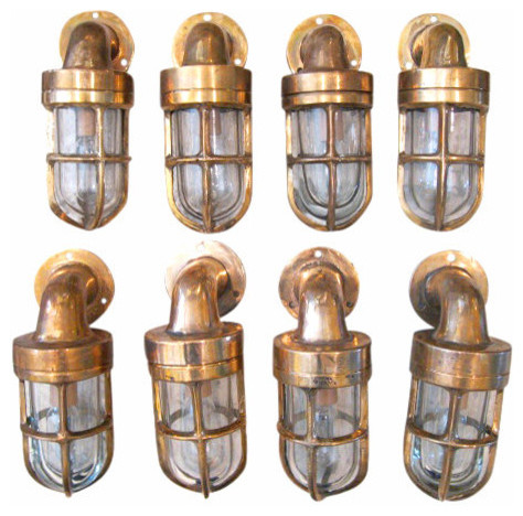Refurbished Antique Bronze Nautical Petit Cabin Light Sconce