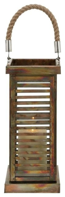 Lantern with Contemporary Twist To Simple Decor Style traditional-candleholders