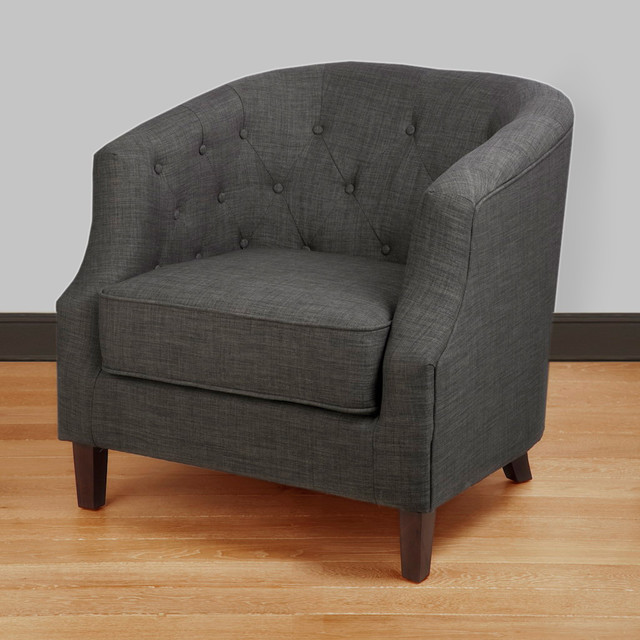 ansley charcoal grey tub chair contemporary armchairs. Black Bedroom Furniture Sets. Home Design Ideas