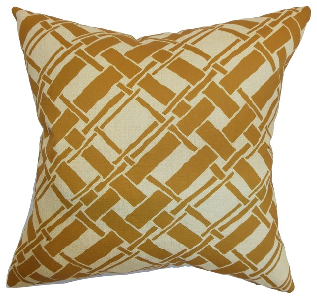 Traditional Throw Pillows : Rygge Bamboo Pillow Goldenrod 18
