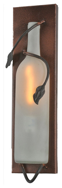 """Meyda Lighting 99640 4""""W Tuscan Vineyard Frosted White Wine Pocket Wall Sconce traditional-wall-lighting"""