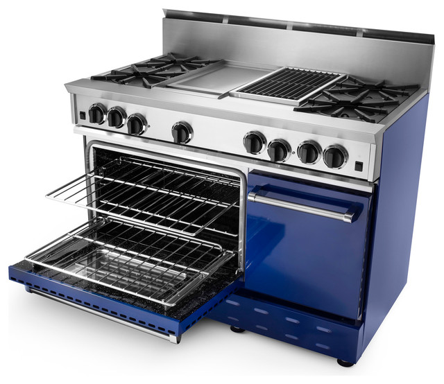"""48"""" BlueStar RNB Gas Range contemporary-gas-ranges-and-electric-ranges"""