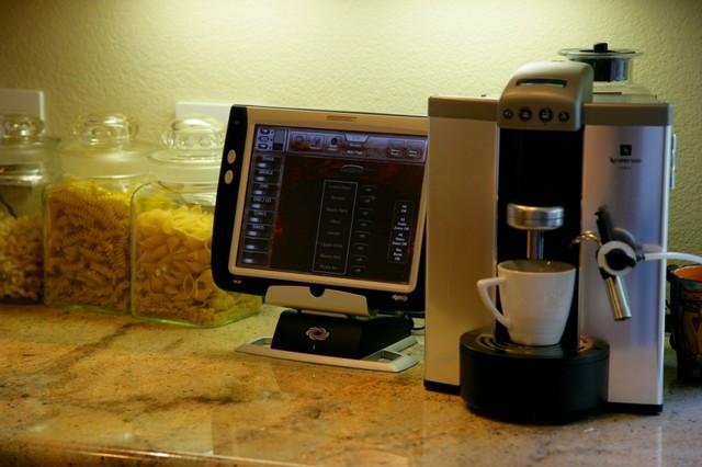 Crestron Touchpanel modern-kitchen