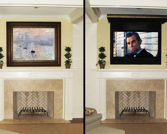 Hide Flat Screen Tv Home Design Ideas Pictures Remodel