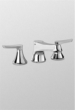 TOTO Wyeth(TM) Deck-Mount Tub Filler Trim - Chrome modern-bathroom-faucets-and-showerheads