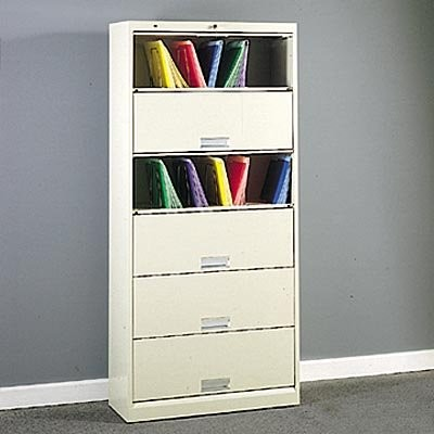 HON 626 Series 6-Shelf Lateral Door File Cabinet - Modern ...