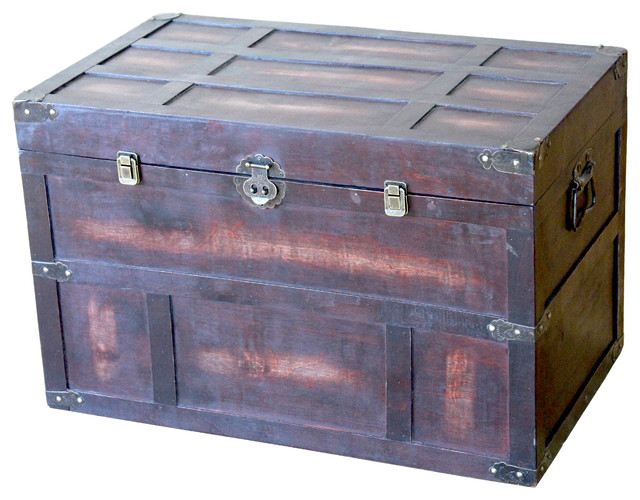 Old Style Large Cedar Chest Rustic Accent Chests And Cabinets By Decorative Gifts
