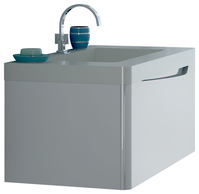 """Code Bathroom Vanity 24"""", White gloss - Contemporary - Bathroom Vanities And Sink Consoles - by ..."""