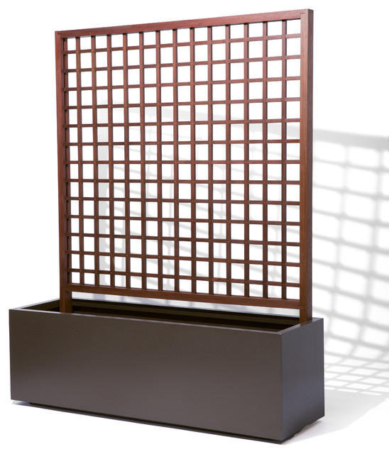 Metal Planter With Trellis Contemporary Outdoor Planters Other Metro on sunroom furniture