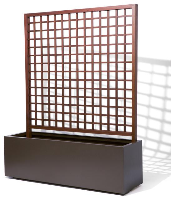 metal planter with trellis. Black Bedroom Furniture Sets. Home Design Ideas