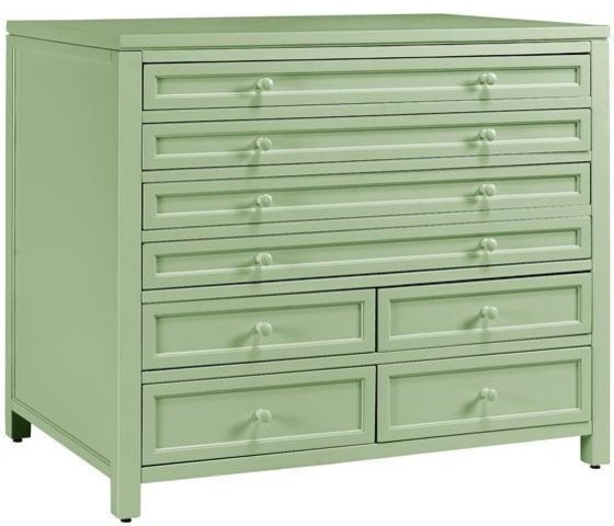 Martha Stewart Living Craft Space 8 Drawer Flat File Cabinet Rhododendron Leaf Contemporary
