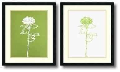 Chrysanthemum Framed Wall Art - Set of 2 - 23W x 27H-inch modern-artwork