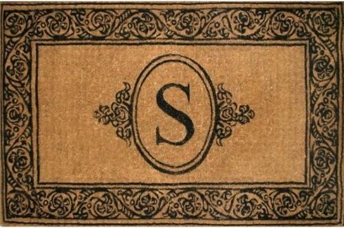 Blossoming Scrolls Personalized Outdoor Doormat traditional-doormats