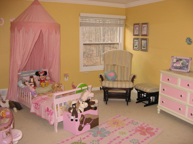 toddler bedroom yellow and pink eclectic detroit