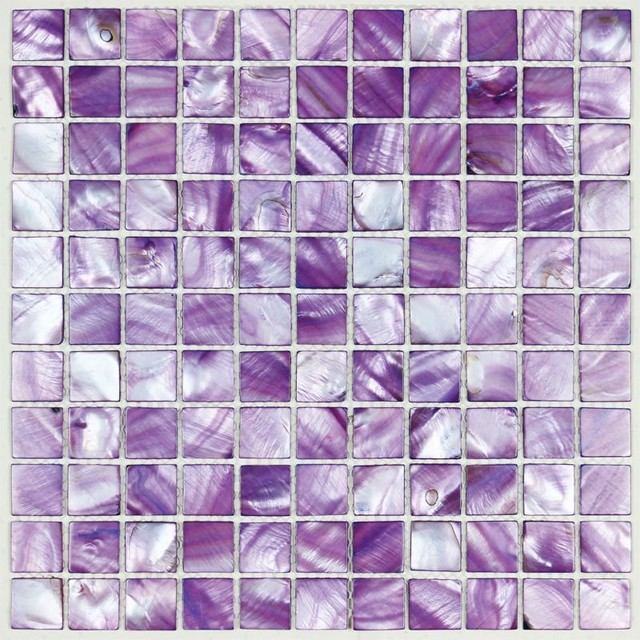 Painted colorful shell tile purple mother of pearl tile ...