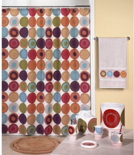 Dot Swirl Shower Curtain - contemporary - shower curtains - by