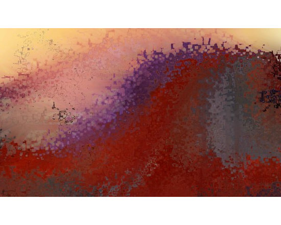 Big Art Inspiration - Red Wave.  Large Art Collection. Copyright 2011 by Mark Lawrence.  All Rights Reserved.