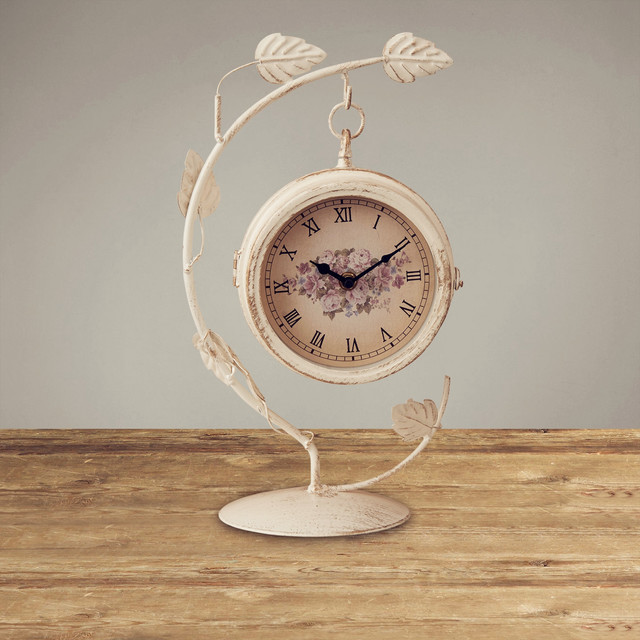 ... Decorative Table Clocks By White Timbo Model Decorative Two Sided Table  Clock