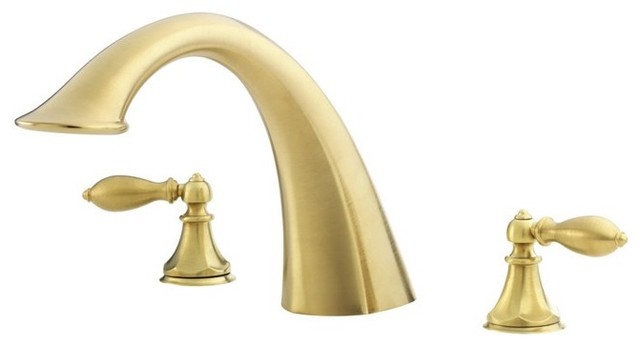 Price Pfister RT6-E0XF Catalina 3-Hole Double Handle Roman Tub Trim with Tub Spo traditional-bathroom-faucets-and-showerheads