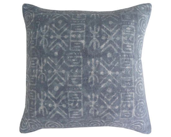 Jaipur - Dabu Pillow, Gray Set of 2 - Funky range of pillows in poly dupione use rich jewel tones expressed in a highly textural and fun way. Perfect for a touch of retro glamour in your home.