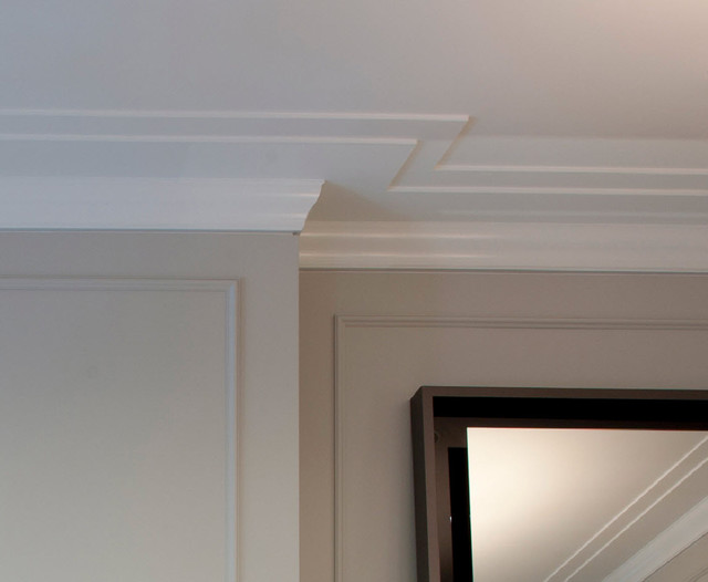 Crown Molding Detail Closeup Reveal Transitional