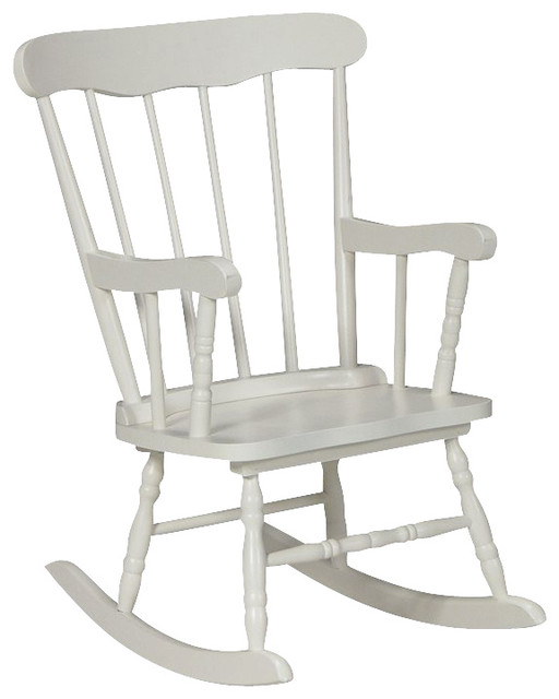 International Concepts Kids Rocker in Linen White transitional-rocking-chairs