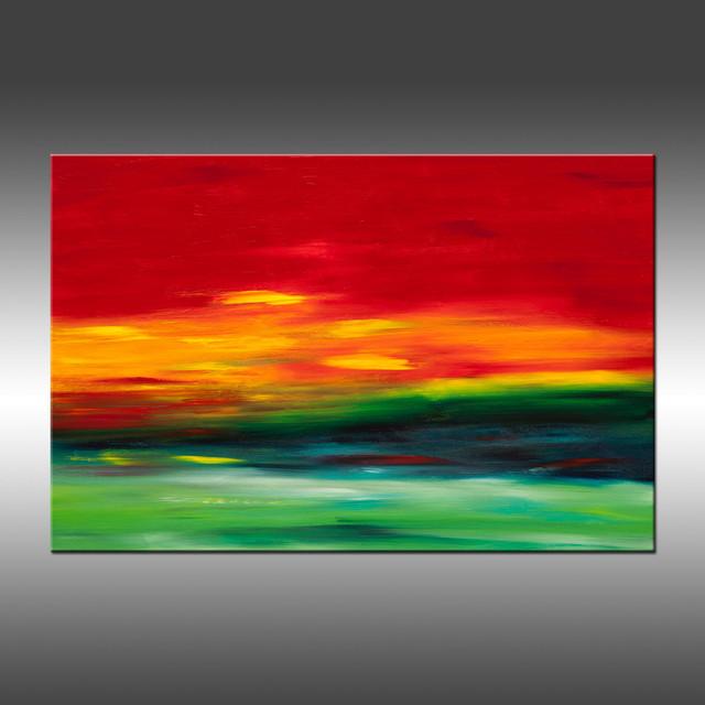 Sunrise Series Vibrant Original Modern Art Landscape
