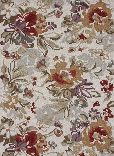 Francesca Ivory-Multi Transitional Hand Hooked Rug transitional-rugs