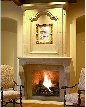 The Normandie Mantel- Francois & Co.  fireplaces