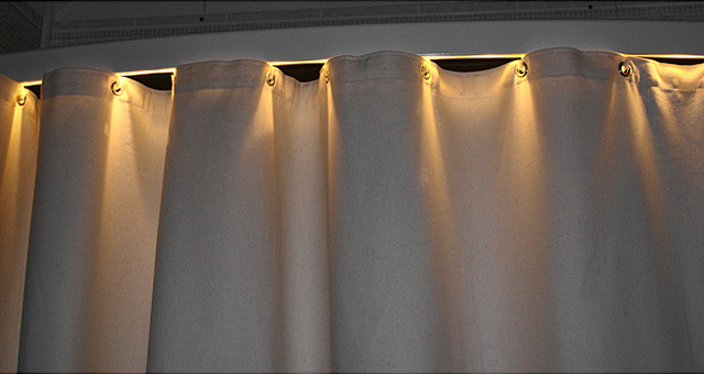 Corner Curtain Bar Decorate The House With Beautiful