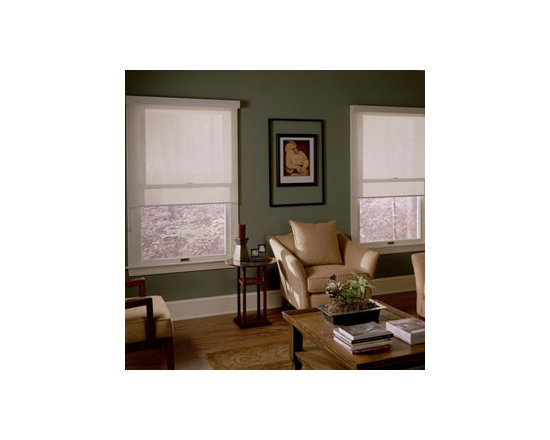 Comfortex - Comfortex Envision Roller Shades: Damascus - If you're looking for streamlined modern look at an affordable price point Envision Roller shades are for you.  Envision rollers are perfect to compliment your curtains or draperies.  Damascus fabric has the look and feel of a tightly weaved designer fabric.