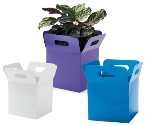 Parcel Planters eclectic-indoor-pots-and-planters