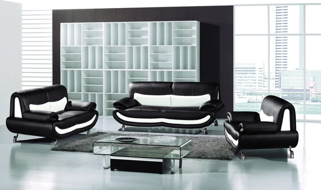 black white leather sofa couch loveseat chair living room set living