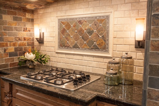 slate kitchen backsplash ideas sealing tile backsplash