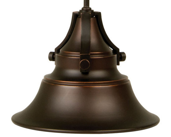 """Craftmade - Craftmade Z4411-88 Oiled Bronze Gilded Union Union 1 Light Outdoor - Craftmade 1 Light Outdoor Pendant from the Union Collection Features:  Attractive bell shaped shade Down light directs useful and attractive illumination downward Update the look of your home at night to be something unique and special with this Union Outdoor Pendant  Specifications:  Height: 15"""" Length: 12"""" Width: 10"""" Canopy Diameter: 4.5"""" Number of Bulbs: 1 (not included) Bulb Type: Compact Fluorescent or Incandescent Bulb Shape: A Wattage: 100 Energy Star: No"""