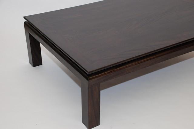 Black Mahogany Coffee Table contemporary-coffee-tables