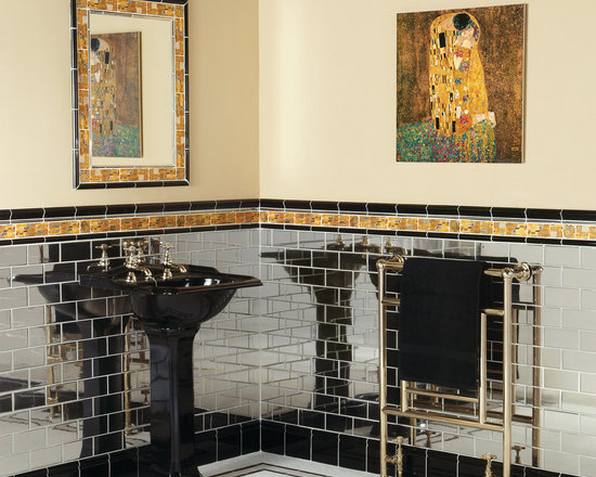 The Artworks Collection - Platinum wall tiles are handcrafted from ceramic with a beautiful and striking glaze. The brick/subway pattern adds an industrial edge,