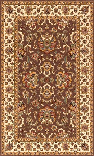 "Persian Garden-14 Rug, Cocoa, 5'-0"" x 8'-0"" traditional-rugs"