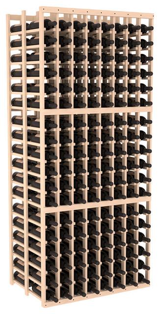 8 Column Double Deep Cellar in Pine contemporary-wine-racks