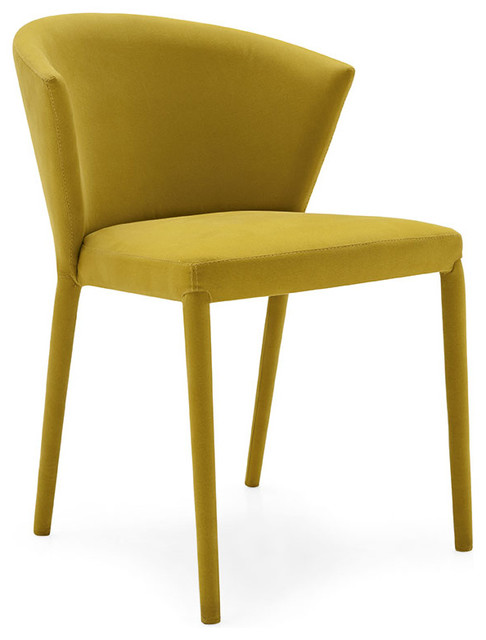 Amelie dining chairs mustard yellow set of 2 for Modern yellow dining chairs