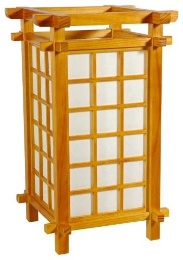 Oriental Furniture Ido Lamp - J061 - Honey asian table lamps