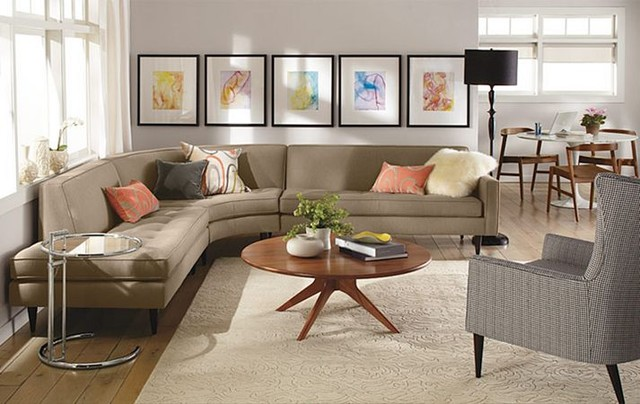 Reese curved sectional room by r b modern living room for Round couches for small living rooms