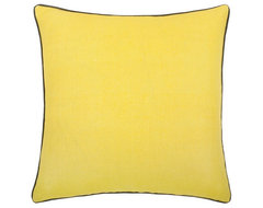Solid Linen Pillow, Citron contemporary pillows