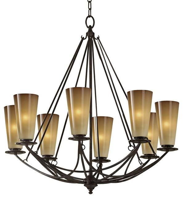 "Feiss El Nido Mocha Bronze 29"" High 8-Light Chandelier contemporary-chandeliers"