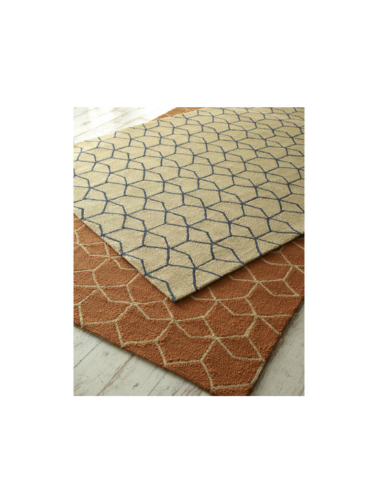 Hexagon Outdoor Rug - Here is one of my favorites. The light and dark contrast of the tan/dark gray colorway is fantastic!