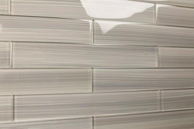 Gainsboro 2x12 Glass Subway Tile for Kitchen Backsplash or Bathroom from Bodesi contemporary-tile